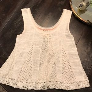 Knit and Lace Tank Top